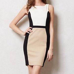 Anthropologie Color-block Sheath Dress Sz M